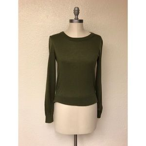 J. Crew Merino Wool Green Sweater